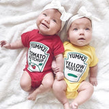 Baby Rompers Twins Boys Girls Rompers Cute Vegetable Jumpsuit Romper for Newborns Cotton Rompers Costumes For Infants