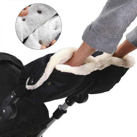 Kids Winter Warm Stroller Gloves Pushchair Hand Muff Waterproof Baby Buggy Clutch Stroller Accessory
