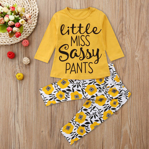 MUQGEW 2018 Hot Sale 2PCS Infant Baby Boys Girls Long Sleeve Letter Tops+Floral Pants Outfit Clothes Dropshipping Baby Clothes