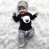MUQGEW Children clothing set Cartoon Koala T-Shirt Tops +Striped Pants Baby Boy Clothes newborn baby boy clothes roupa infantil