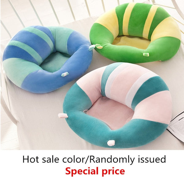 New Baby Support Seat Dining Chair Sofa Safety Cotton Plush Travel Car Seat Pillow Cushion Baby Nest Puff Plush Toys