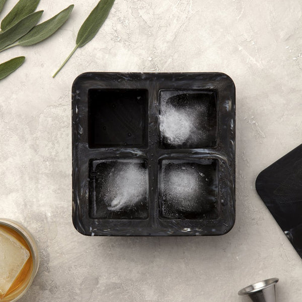 W&P Design - Peak Extra Large Ice Cube Tray, Black Marble