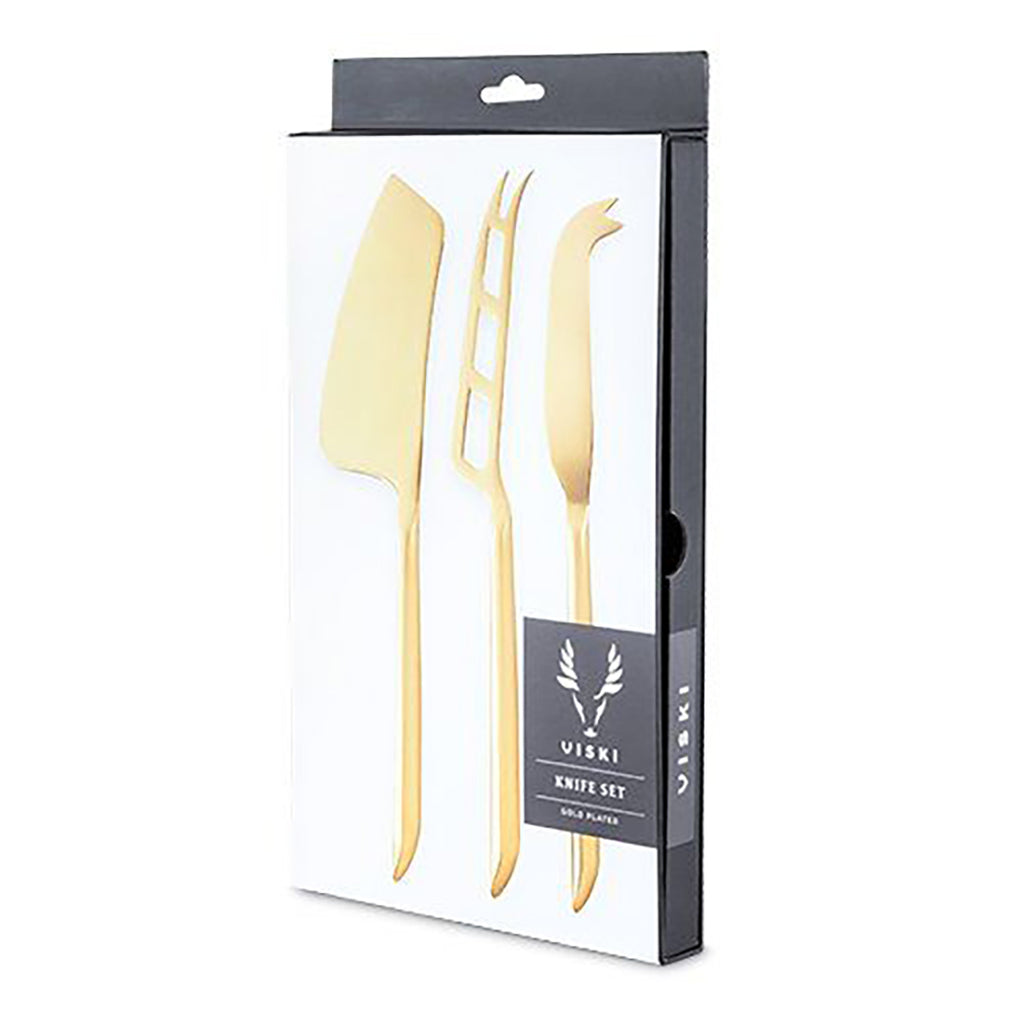 VISKI - Belmont Gold Plated Knife Set