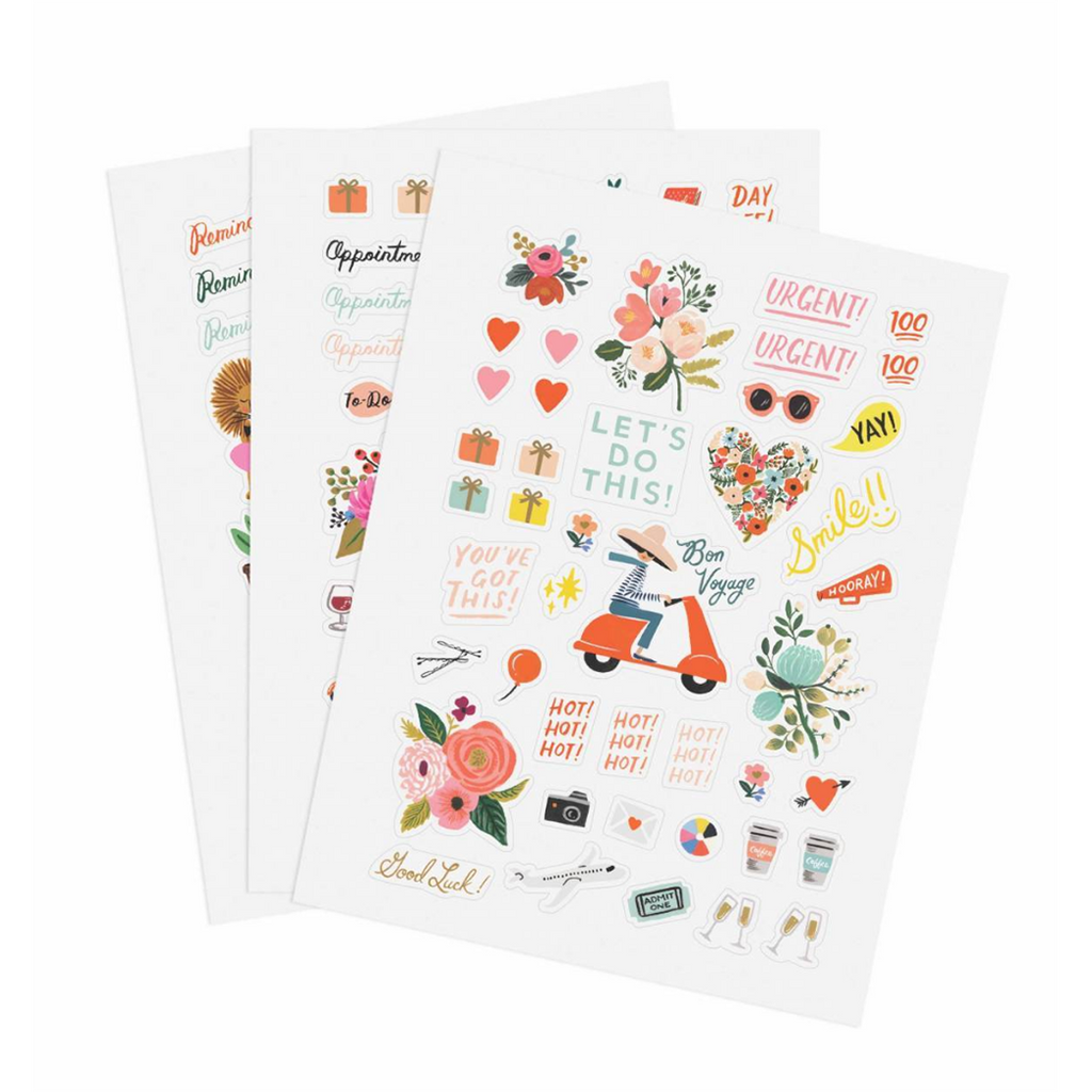 Rifle Paper Co - Sticker Set of 3, Assorted Designs