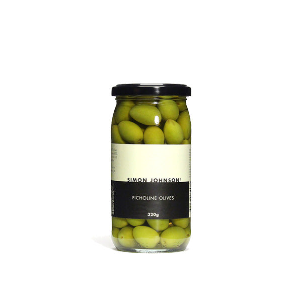Simon Johnson - Green Picholine Olives, 320g