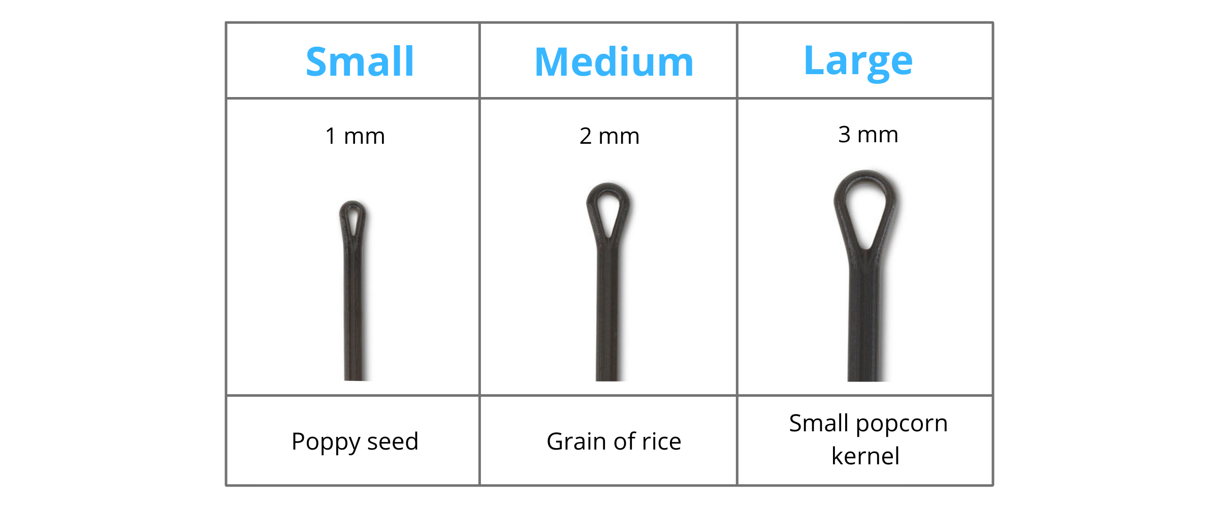 TonsiFIX Tonsil Stone Tool Singles by Tonsil Tech Size Guide