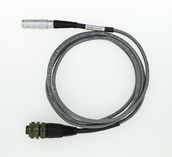 Entek IRD Accelerometer Straight Cable with 7 Pin LEMO Connector To 2 Pin Military Connector
