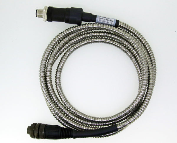 CSI 2130 & CSI 2140 Straight Armored Cable 5 Pin TURCK Connector to 2 Socket Military Connector