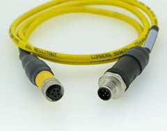 CSI 2130 & 2140 Straight Cable TURCK 5 Pin (M12 'A' Code) Connector to TURCK (M12 Dual Key) Connector
