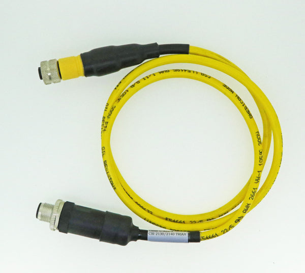 CSI 2130 & 2140 Straight Cable TURCK 5 Pin (M12 Dual Key) Connector to TURCK (M12 Dual Key) Connector
