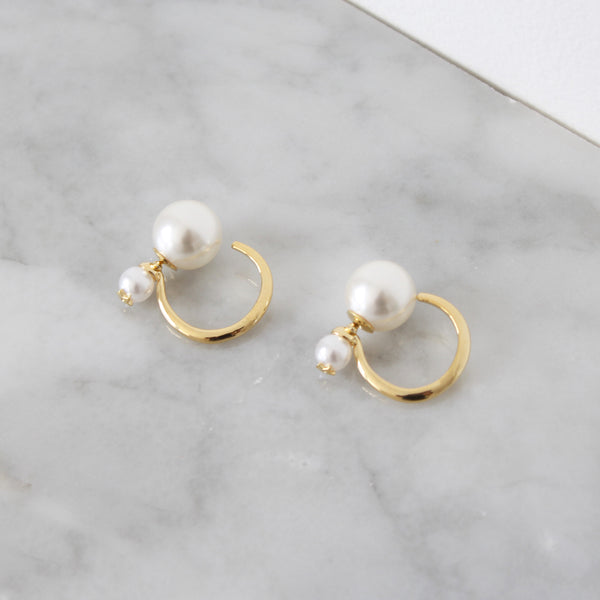 Aretes Double Pearl