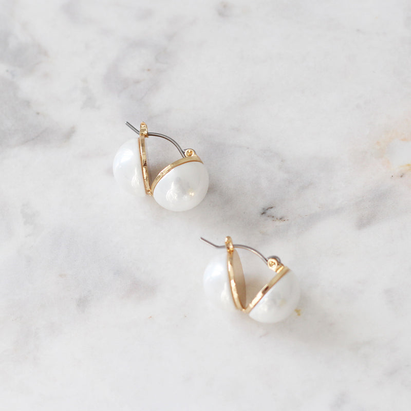 Aretes Two Sides Pearls