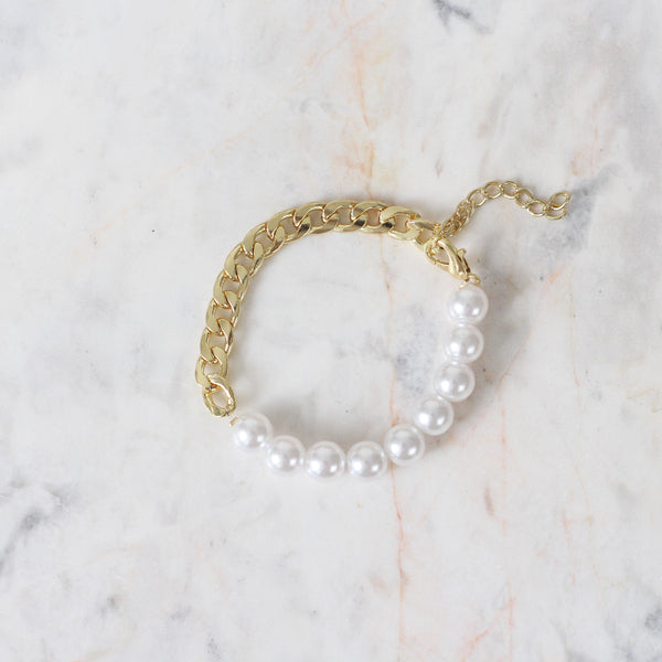 Pulsera Chain and Pearl