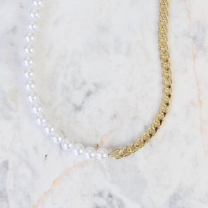Collar Half Pearls