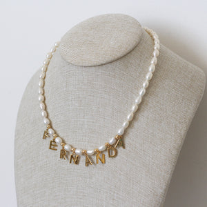 Collar Pearls and Name