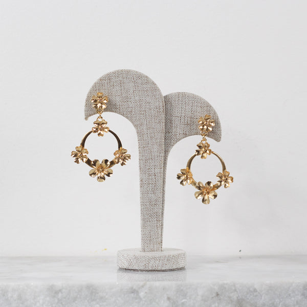 Aretes Floral Earrings