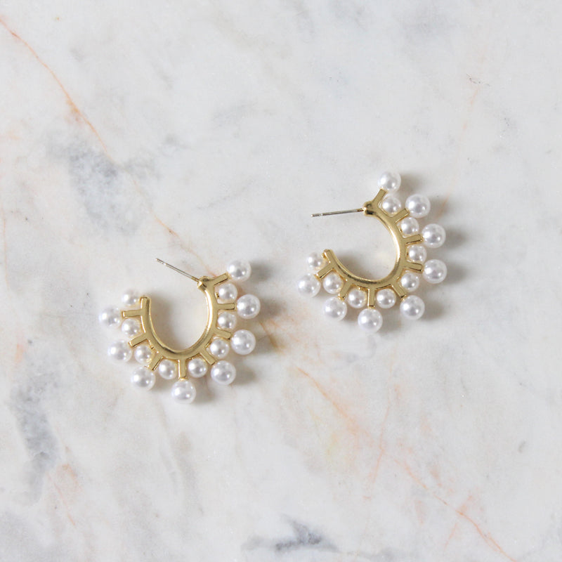 Aretes Statement Pearls