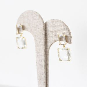 Aretes Crystal Square