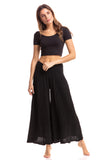 Nusantara pants, wide leg solid