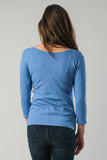 Necessitees t-shirt, reversible scoop 3/4-sleeve