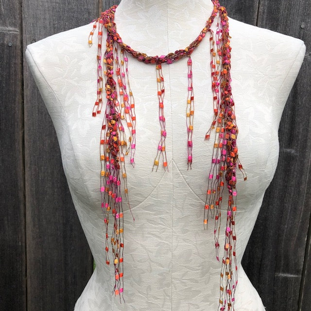 Fringe adornment scarf