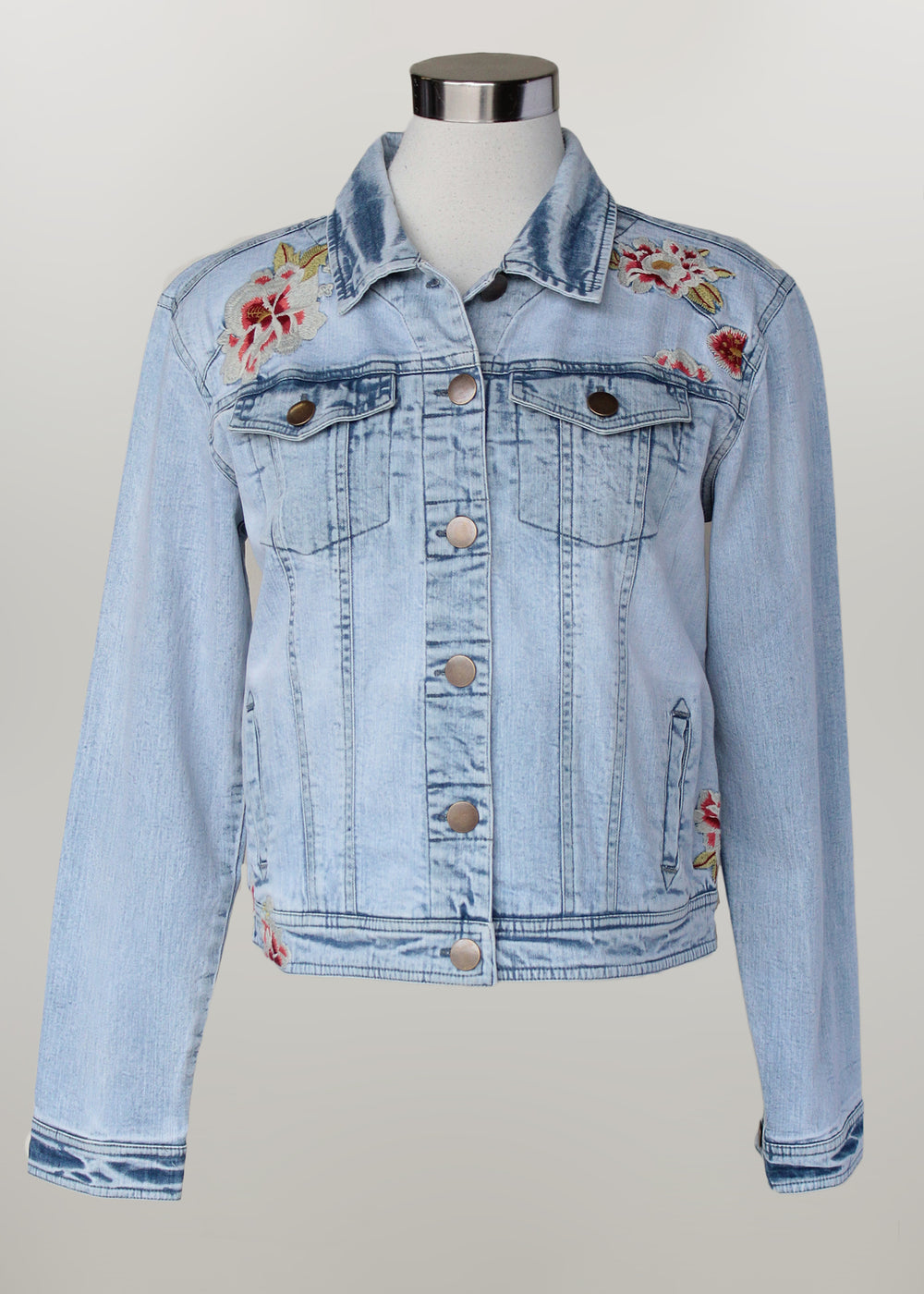 Keren Hart jacket, denim embroidered