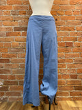 Cut Loose pants, linen blend side zip