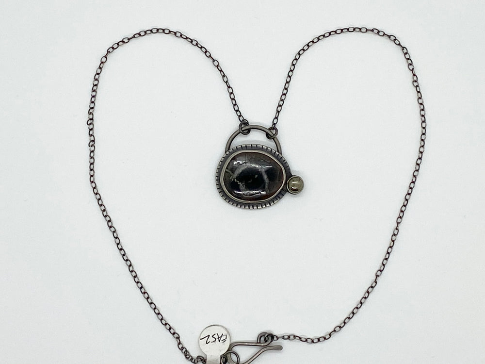 Erin Austin necklace, #51/52/54 Orbital pendant