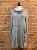 Michael Farrell tunic dress, cowl sweater knit (2 colors)