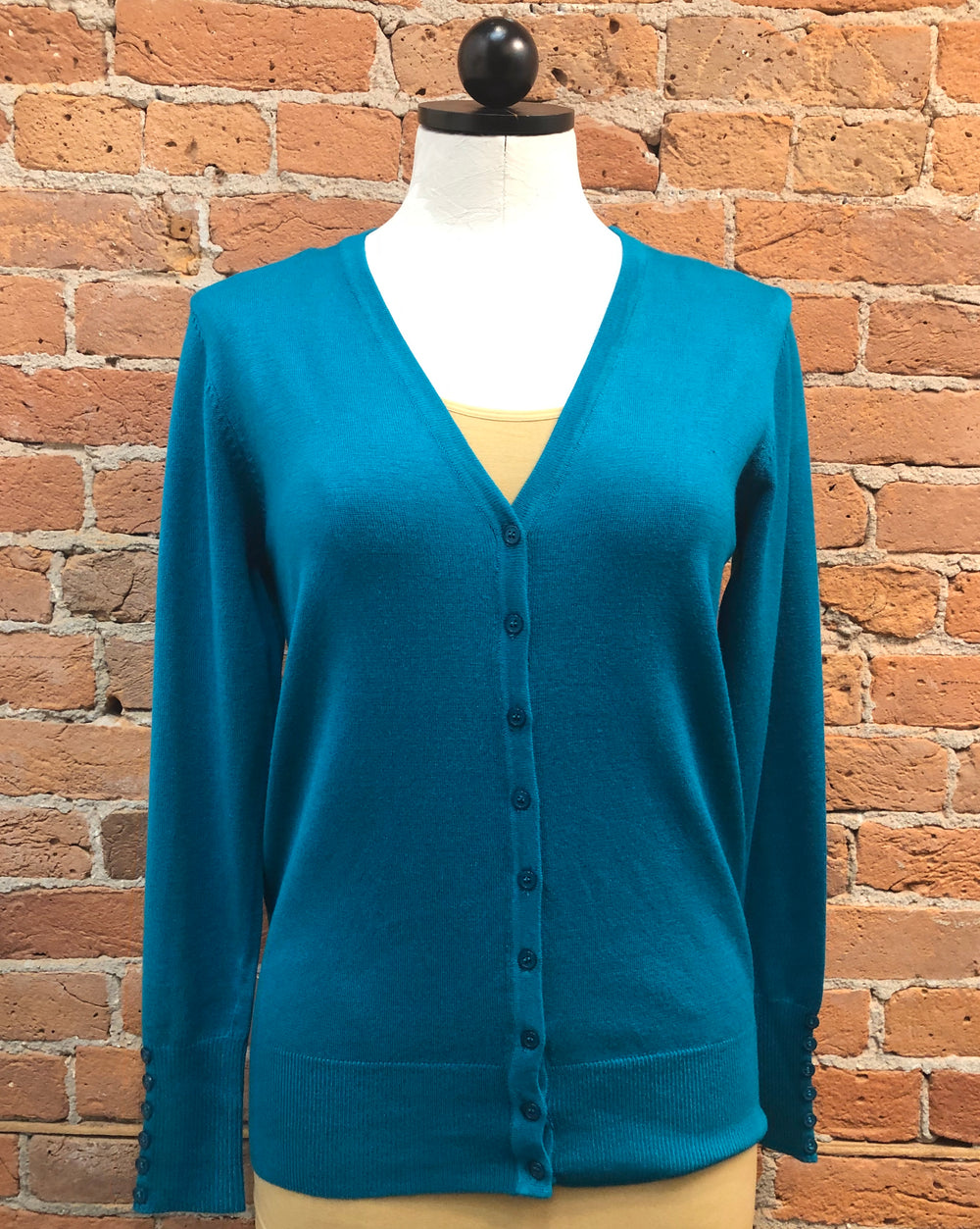 Michael Farrell cardigan, button sleeve (12 colors)