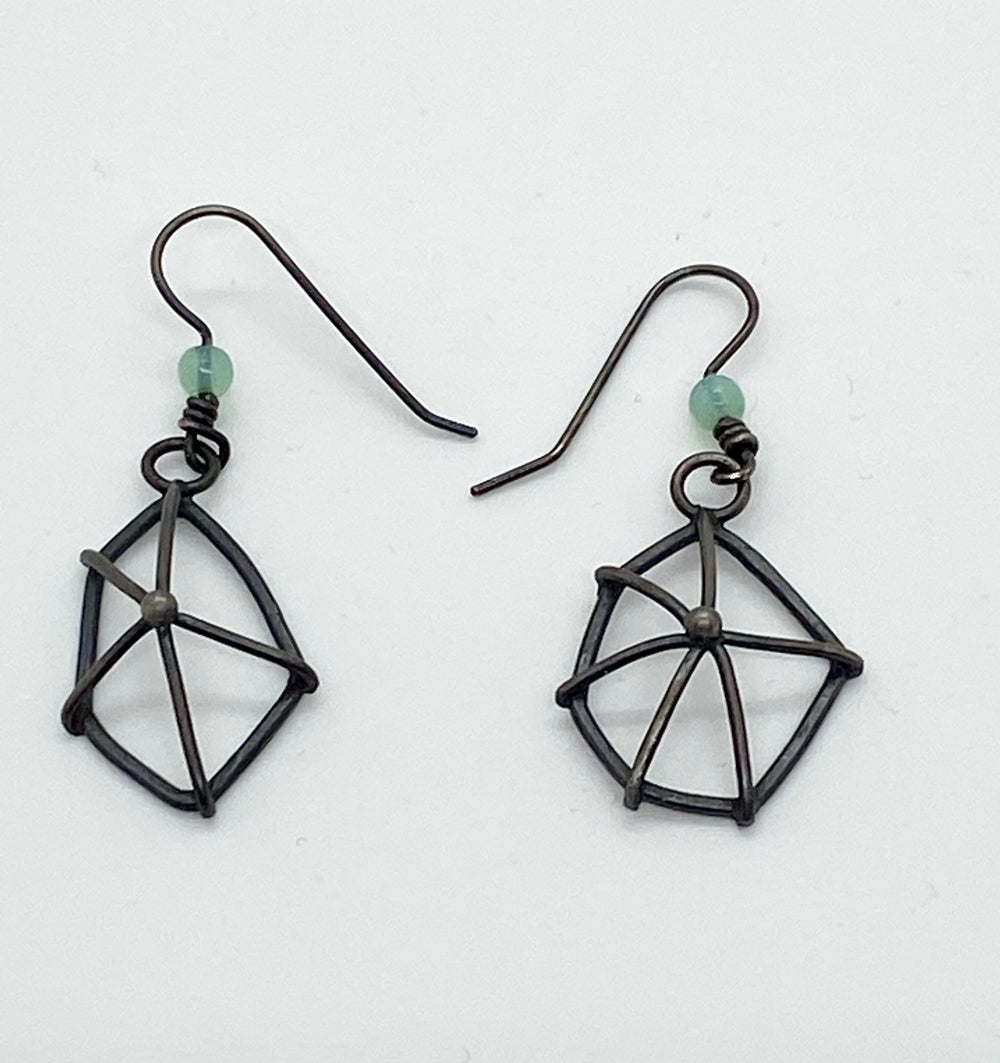 Erin Austin earrings, #56 Web (3-dimensional)