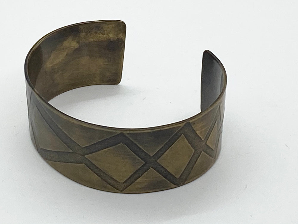 Erin Austin cuff, #164/165 Roll Printed Copper or Brass