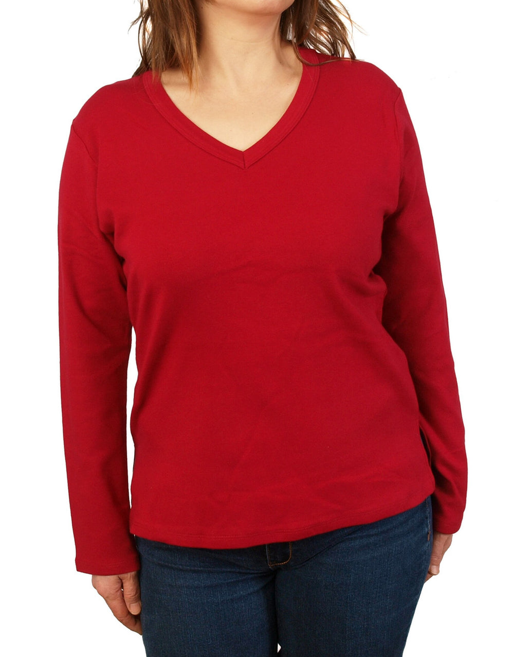Necessitees t-shirt, 3/4-sleeve easy-fit v-neck