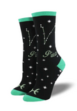 Socksmith astrology cotton crew, women's sizing
