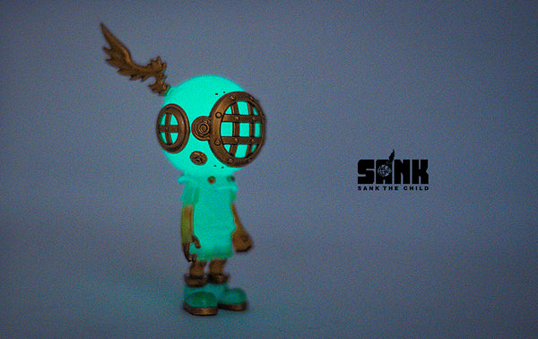 Little Sank- Spectrum Series (GID Blue) by Sank Toys - Preorder