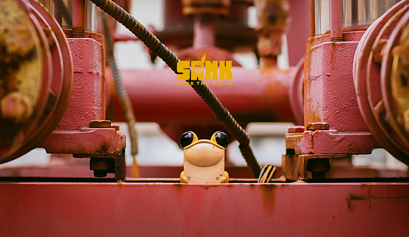 Cube Frog - Yellow by Sank Toys - Preorder