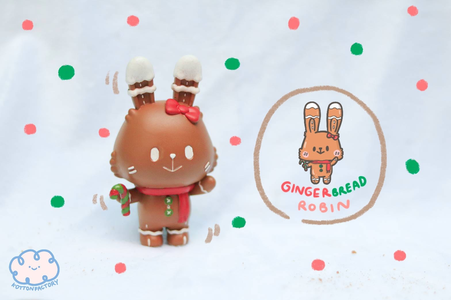 Gingerbread Robin by Kotten Factory - Preorder