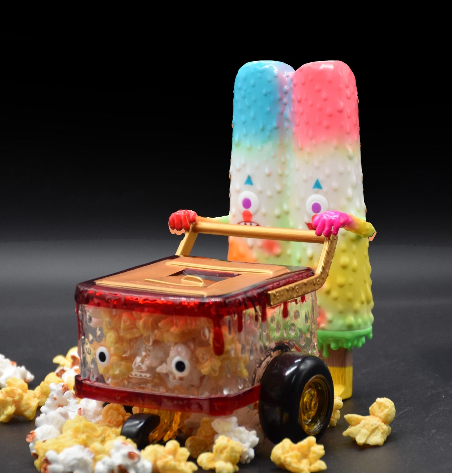 Popsicle Mon - Popcorn Popsicle Cart Set by 16M