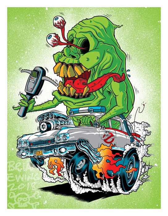 Ghost Fink Print by Brian Ewing