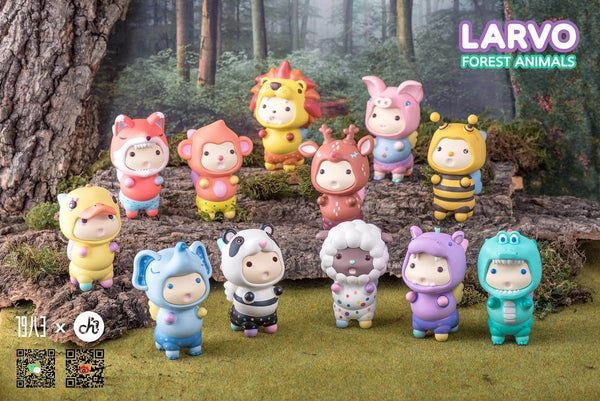 Larvo Forest Animals Series by Playgrounders x 1983 Toys - Preorder