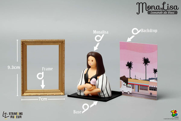 Mona Lisa Mini Figures by STRAVELING MUZEUM - Preorder