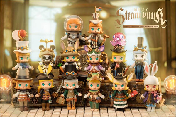 Molly Steam Punk Blind Box Series by 鐮田光司 Kamaty Moon x Kenny Wong x POP MART - Preorder