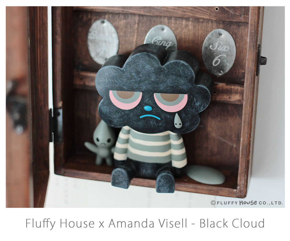 "FLUFFY HOUSE X AMANDA VISELL SERIES - ""BLACK CLOUD"" - Preorder"