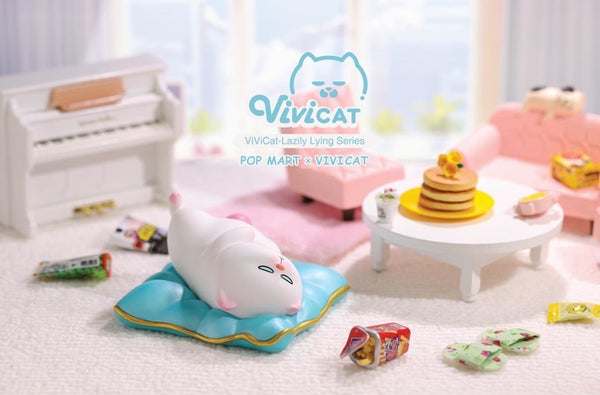 Vivicat Lazily Lying Cat Series by POP MART x Vivi Cat - Preorder
