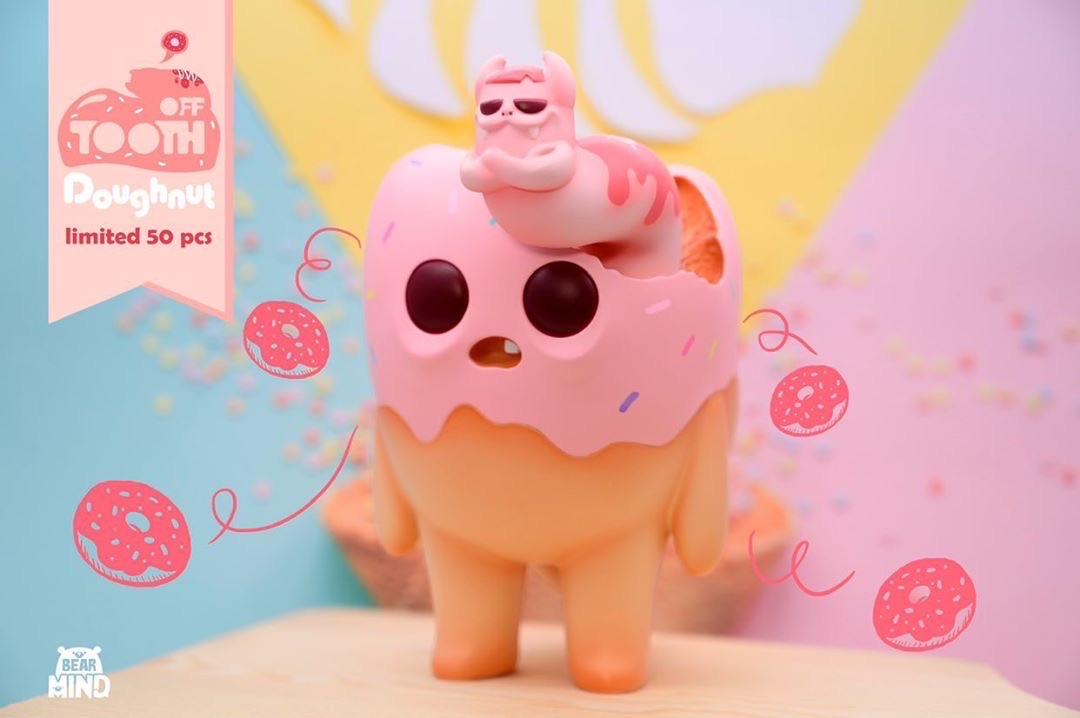 Tooth off - Pink Doughnut Tooth by Bear In Mind Toys - Preorder