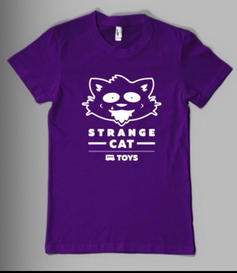 Strangecat T-Shirt Purple