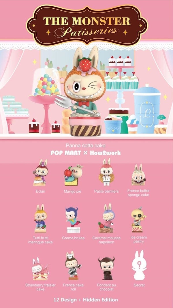 The Monster Patisseries Labubu BlindBox Series by Kasing Lung x Pop Mart - Preorder