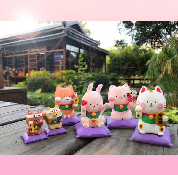 Lucky Animals by Chubby Man Gashapon Series