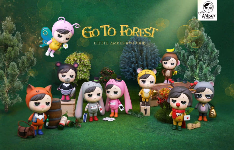 little amber go to forest