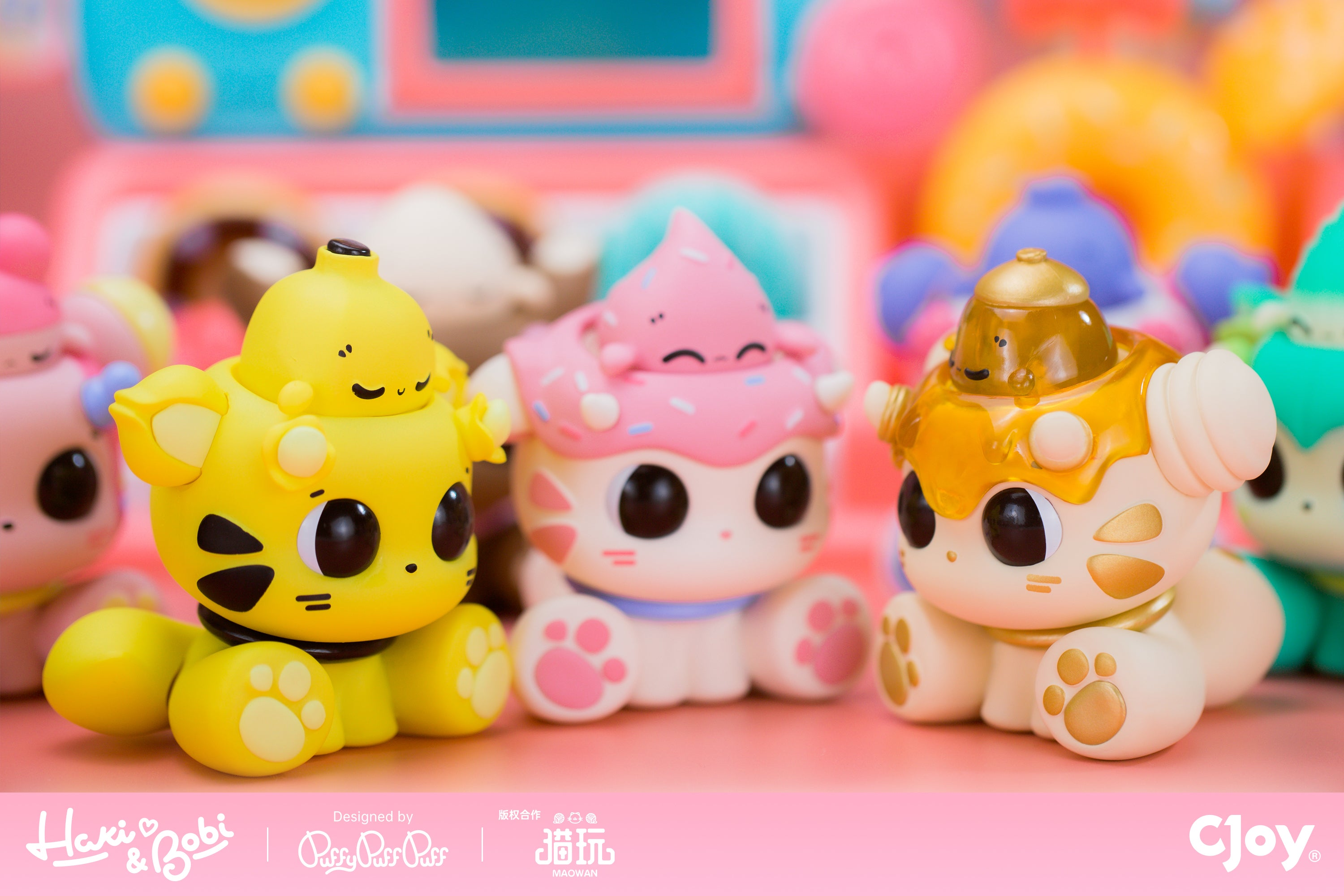 Haki + Bobi Blindbox Series by PuffyPuffPuff x CJOY